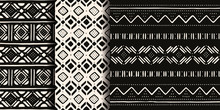 Set Of White And Black Tribal ...