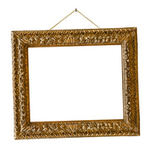 Old Wooden Picture Frame Hangi...