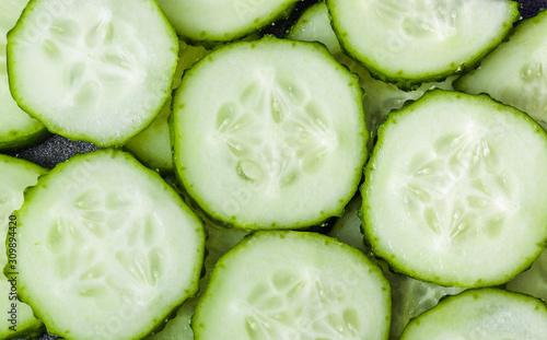 Photo  Fresh cucumbers background
