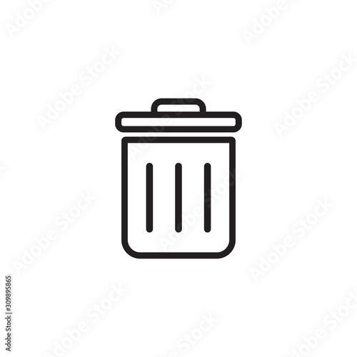 Fototapety, obrazy: Delete icon symbol vector illustration