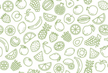 Fruit And Berry Background, Ab...