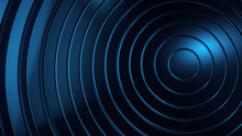 Abstract Graphic Background And Texture, Blue Circles Circles, Layers. Science And Technology Concept Background