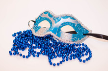 Blue Mask On White Background ...