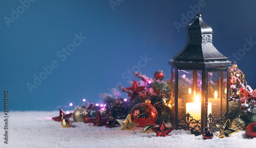 Fotomural Lantern and christmas decoration