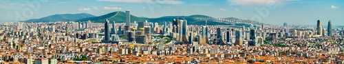 Photo Panorama of the Asian side of Istanbul in Turkey