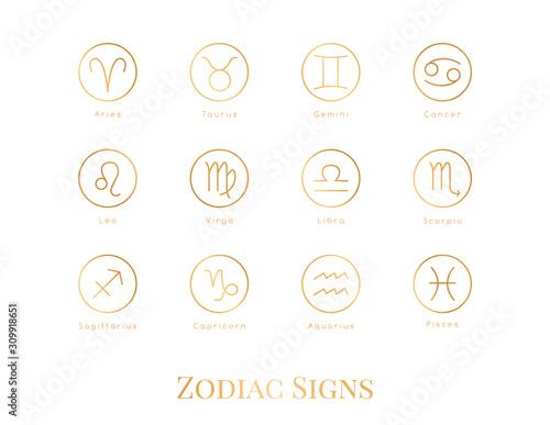 Obraz Illustration zodiac sign. - fototapety do salonu