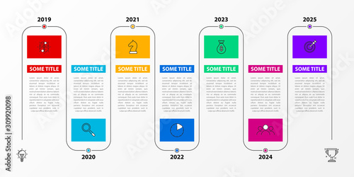 Tablou Canvas Infographic design template. Timeline concept with 7 steps