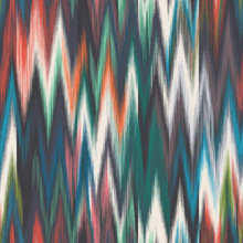 Blurred Colorful Ikat Chevron ...