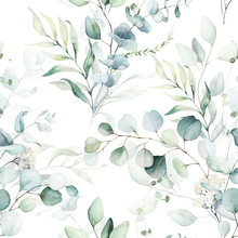 Seamless Watercolor Floral Pat...