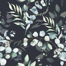 Seamless Watercolor Floral Pat...