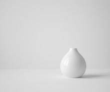 White Vase On Table