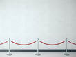 canvas print picture - Stanchion with red barrier rope