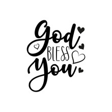 God Bless You- Calligraphy Tex...