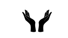 Two Arms  Icon. Care And Prot...