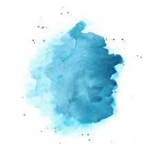 Blue Watercolor Vector Backgro...