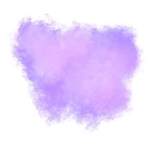 Watercolor Stain In Beautiful Purple. Vector Illustration Of Abstract Paint Splash. Graphic Design With Texture. Flower And Love Grunge. EPS 8. Subtle And Delicate Transition.