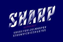 Modern Font Design With Sliced...