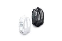 Blank Plastic Bottle In Black And White Shrink Wrap Mockup