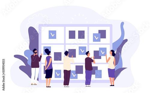 Agenda concept Wallpaper Mural