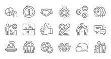 Employees Benefits Line Icons....