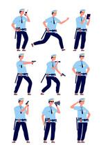 Policeman. American Cop Securi...