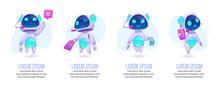 Chat Bot Banners Set. Future M...
