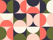 Bright Colored Circular Patter...