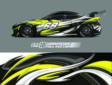 Racing Car Wrap Design Vector....
