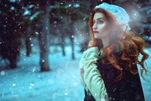 Medieval Winter Woman
