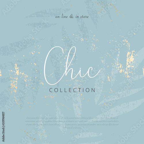 Fotografía  Social media banner template for advertising winter arrivals collection or seasonal sales promotion