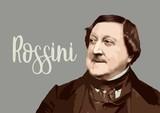 Fototapeta Fototapety Paryż - Gioacchino Rossini - composer