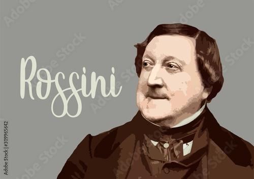 Gioacchino Rossini - composer Wallpaper Mural