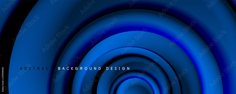 Vector 3d style abstract swirl circles, modern techno digital trendy abstract background. Vector Illustration For Wallpaper, Banner, Background, Card, Book Illustration, landing page