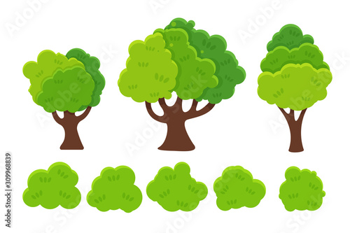 Flat Cartoon Tree Vector Trees With Green Leaves Look Simple Isolated On A White Background Buy This Stock Vector And Explore Similar Vectors At Adobe Stock Adobe Stock And there you have it, a cartoon tree. flat cartoon tree vector trees with