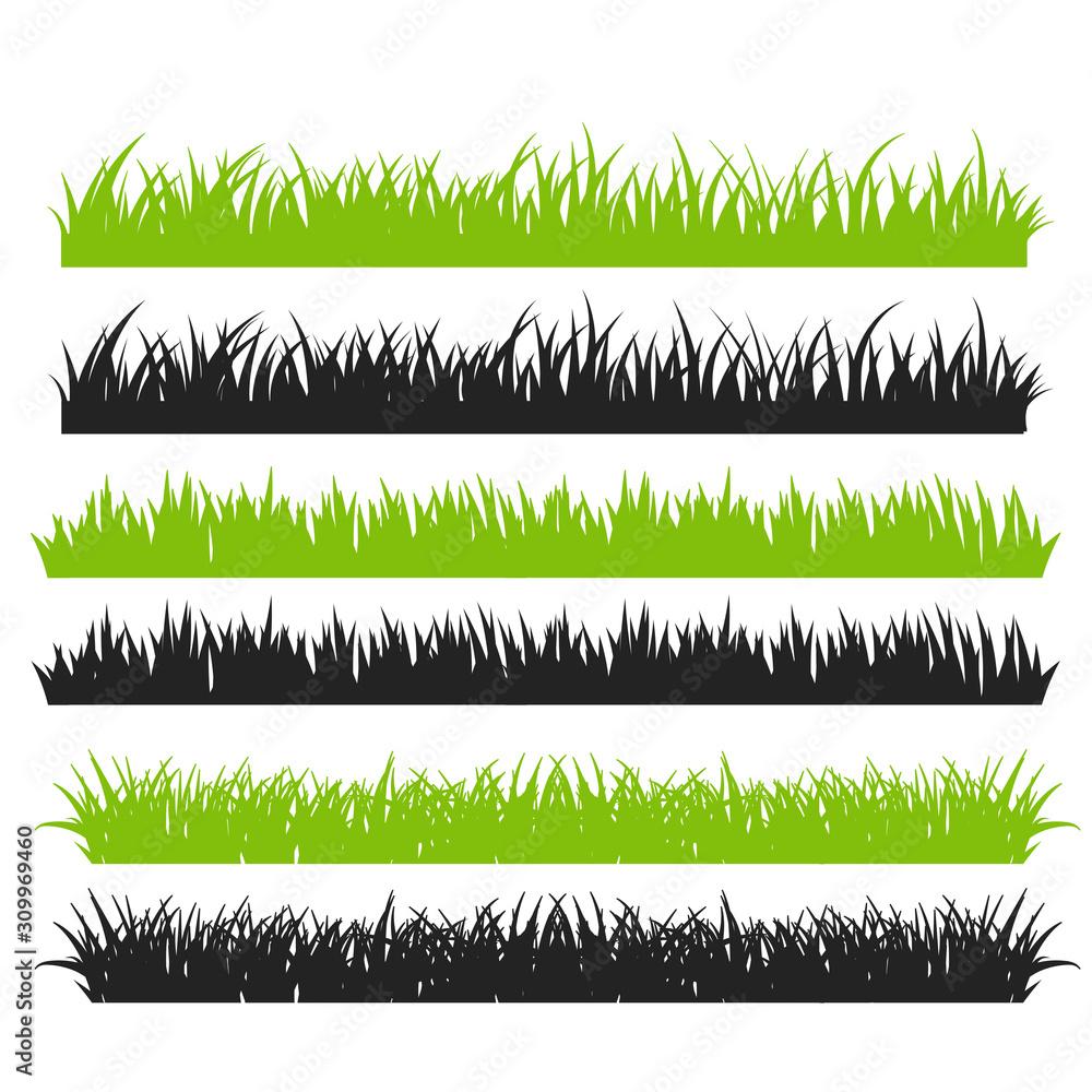 Trawa wektor. Zielona trawa ułożona w piękne rzędy Do robienia pędzla na imprezie z kreskówek. <span>plik: #309969460 | autor: anuwat</span>