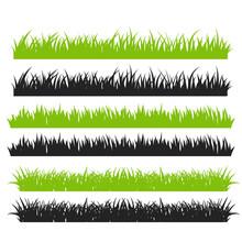 Grass Vector. Green Grass Arra...