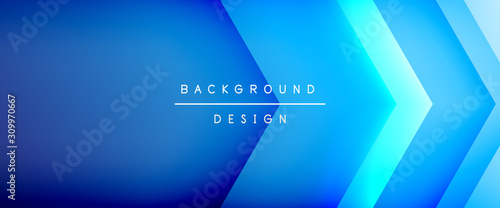 Arrow lines, technology digital template with shadows and lights on gradient background Wallpaper Mural