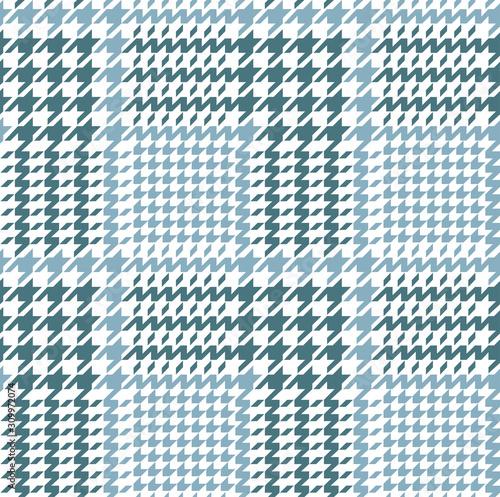 Платно Light blue and white glen check pattern