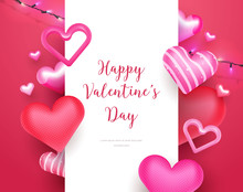 3d Cute Valentine's Day Card F...