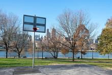 Basketball Hoop At Rainey Park...