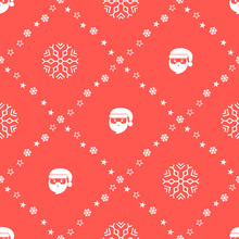 Seamless Pattern With Santa Cl...