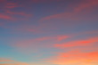 canvas print picture - beautiful twilight sky background