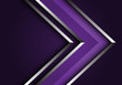 Abstract violet silver line arrow direction design modern luxury futuristic background vector illustration.