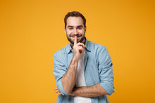 Smiling Young Bearded Man In C...