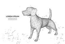 Futuristic Dog. Cute Funny Dog...