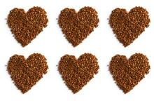 Buckwheat Heart On White Background Pattern Isolate Texture