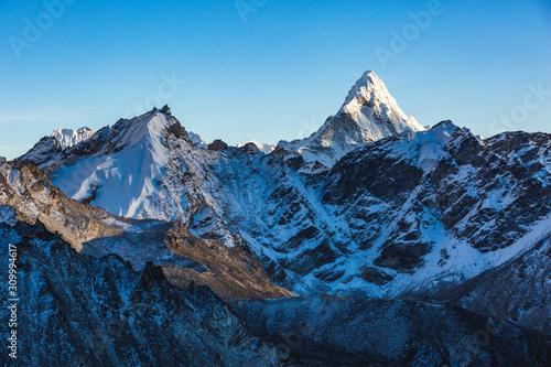 Photo Ama Dablam view from Kala Patar Mount. Nepal