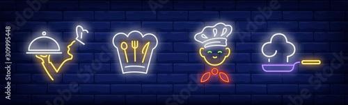 Photo Chef neon sign set