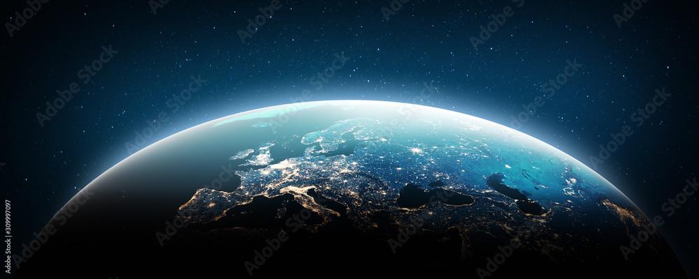 Fototapeta Europe at night