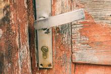 Old Door Handle Close Up